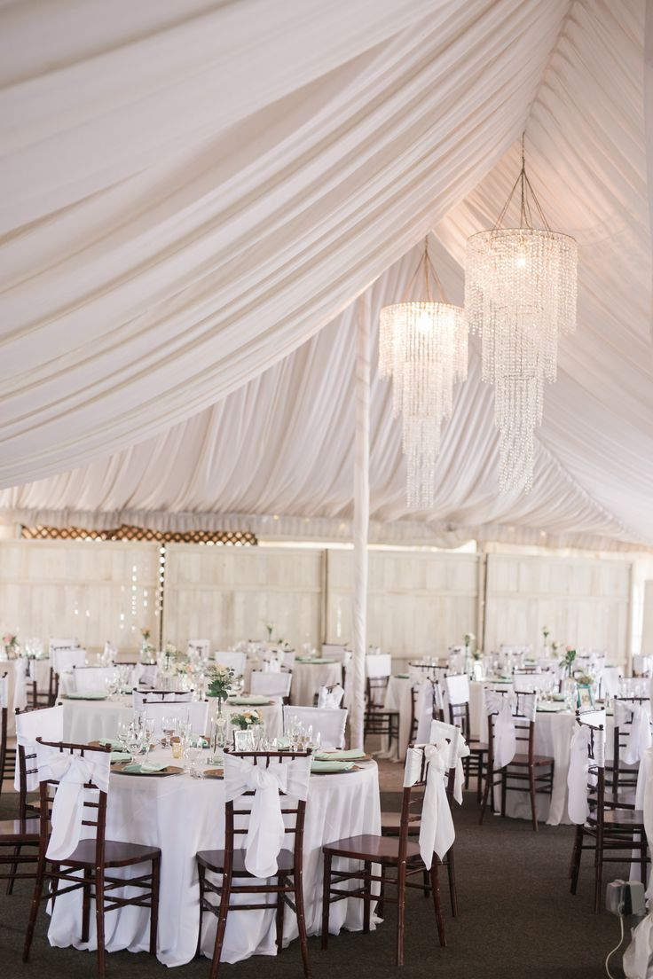Reception Details With Tent Covering At San Go Fallbrook Wedding Venue Twin Oaks Garden And Estate