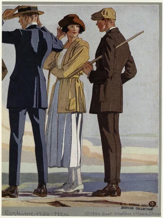 Catalog images, Hart Schaffner Marx, 1920s.