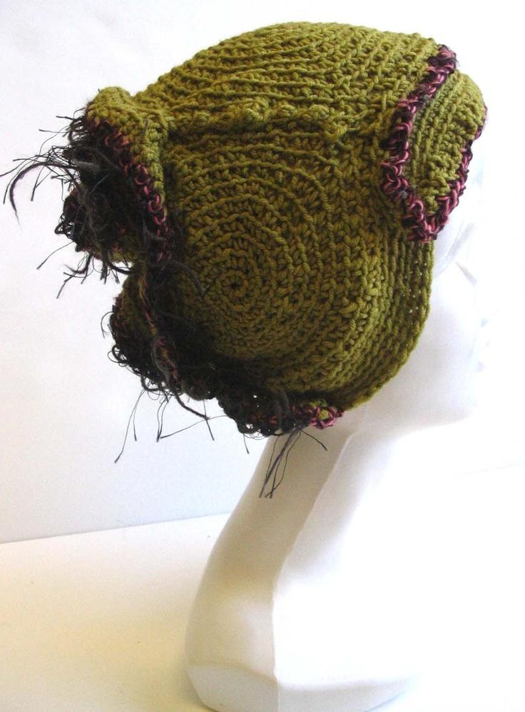 Barnacle Swamp-freeform crochet hat