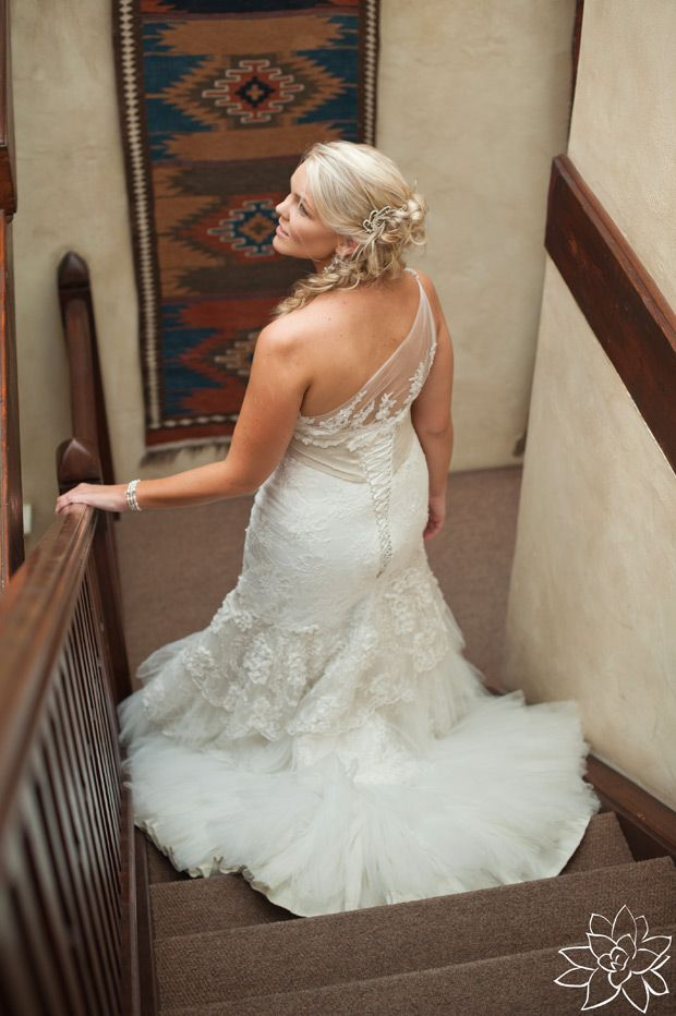 Gorgeous bride with gorgeous dress