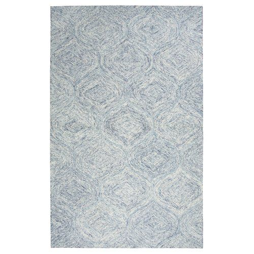 Found it at Wayfair - Flaxville Hand-Tufted Blue Area Rug