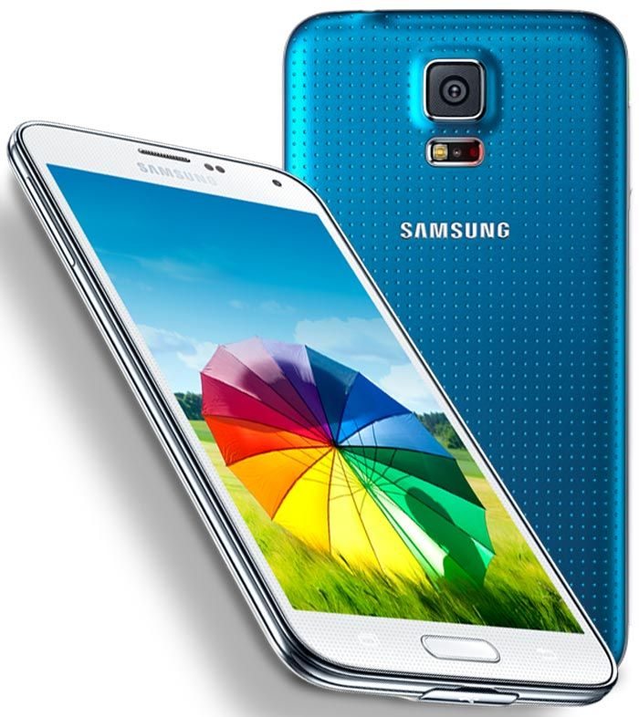 Samsung Galaxy S5 smartphone with 5.10-inch 1080x1920 display powered by 1.9GHz processor alongside 2GB RAM and 16-megapixel rear camera.  http://www.ispyprice.com/mobiles/3061-samsung-galaxy-s5-price-list-india/