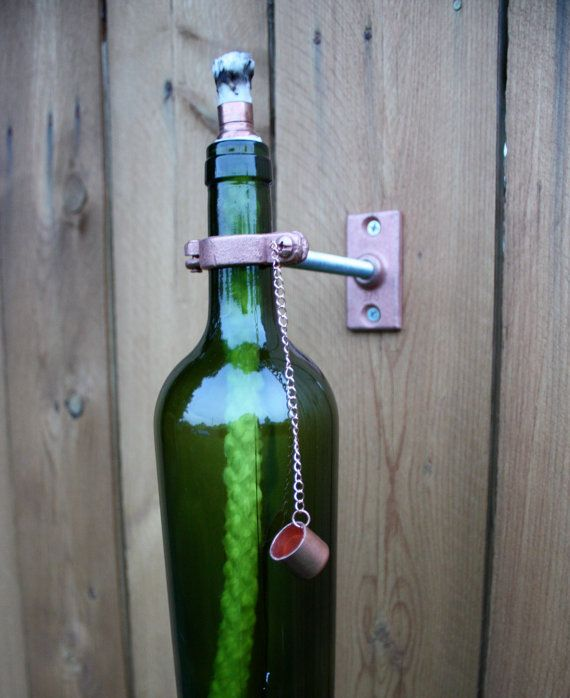 Great way to recycled all the wine bottles.