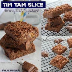 No bake 3 Ingredient Tim Tam Slice