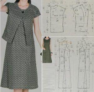 Vestido casual de dos piezas con patrones