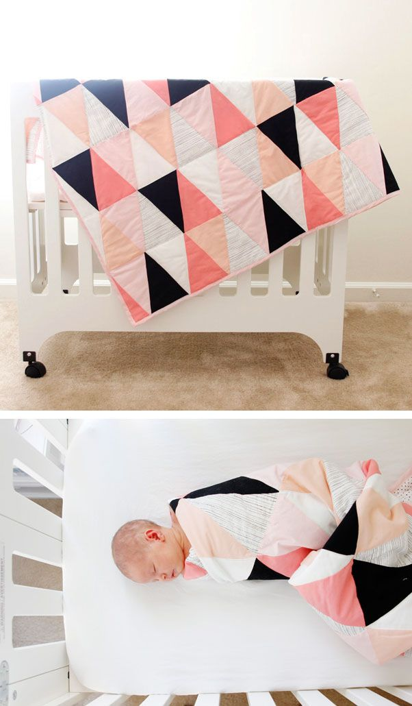 DIY Geometric quilt- this is a really cool looking quilt. if i every get all crafty one day i'll choose to make this one.