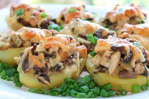 Рецепт №1: Картошка с грибами и курицей