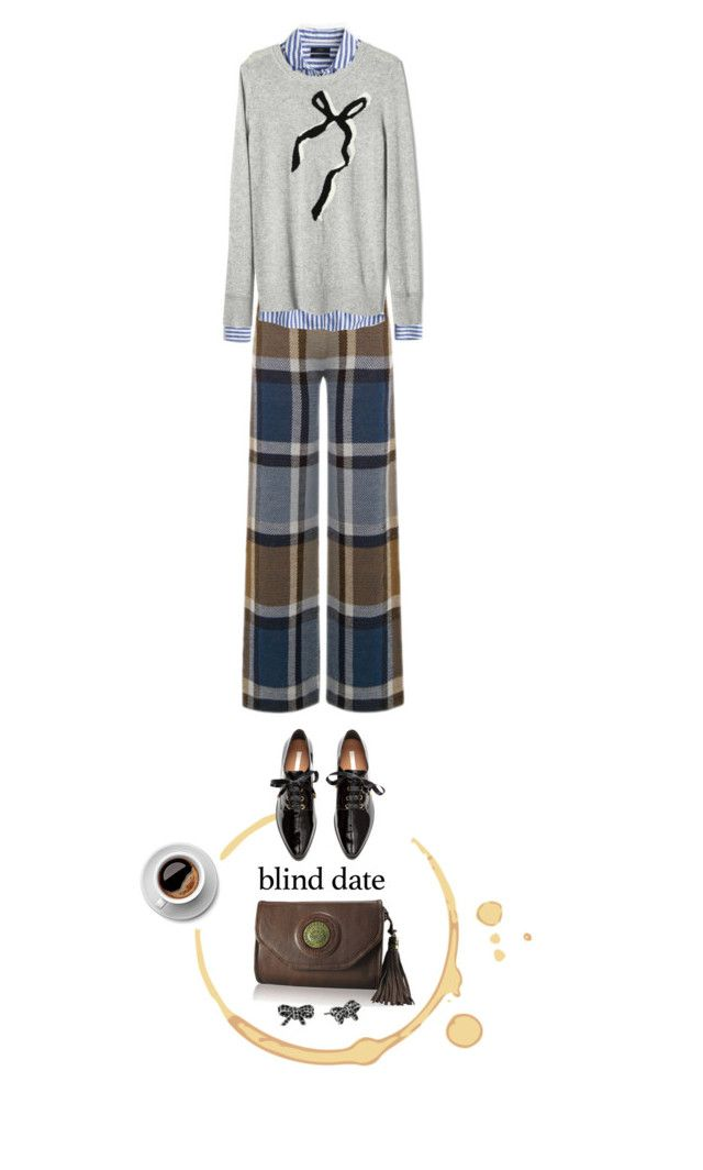 """""""meeting of the minds"""" by collagette ❤ liked on Polyvore featuring Warehouse, J.Crew, Banana Republic, H&M, Marc Jacobs and blinddate"""