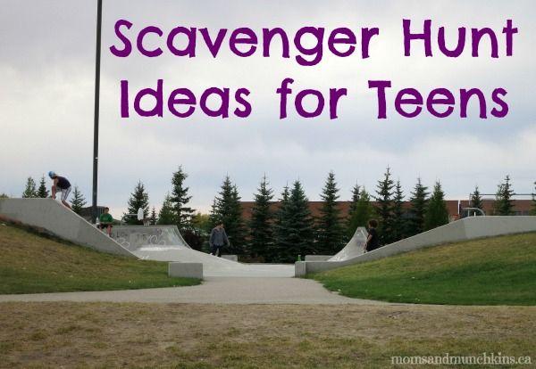 Teenage Scavenger Hunt Ideas #ScavengerHunt #Teens