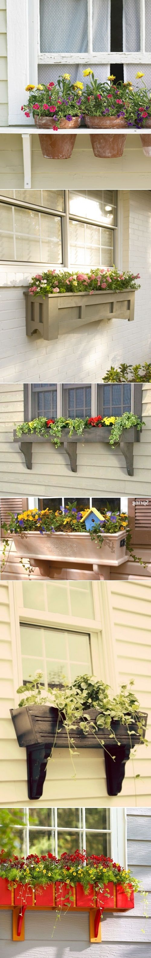 DIY Window Boxes for Flowers