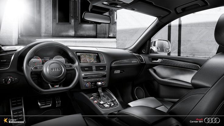No interior do Audi SQ5 os detalhes garantem a exuberância.  #Audi #AudiLovers #Love #AudiAutomóvel #AudiCenterBH #AudiSQ5 #SQ5 #Q5 #AudiQ5