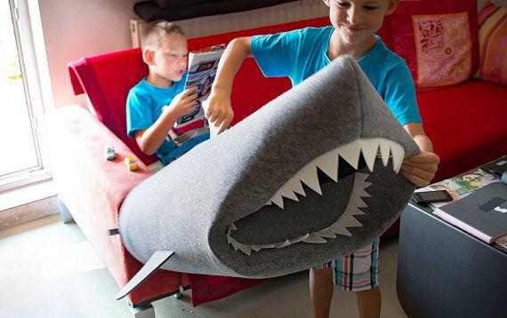 SHARK felt kids toy storage basket from Uczarczyk Toy by Uczarczyk