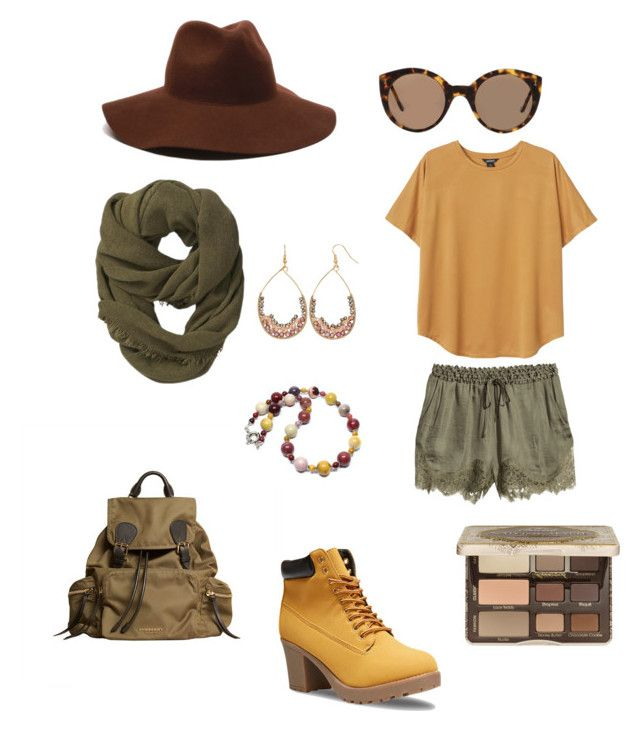 Earth by danishkid on Polyvore featuring polyvore, fashion, style, Monki, H&M, Wet Seal, Burberry, Gemma Simone, Athleta, ále by Alessandra, Illesteva and Too Faced Cosmetics