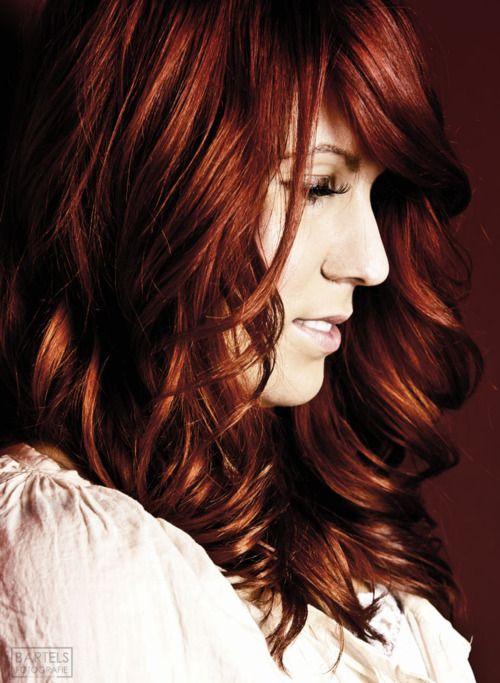 Deep copper red hair color. eSalon.com