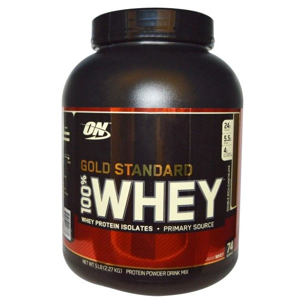 Optimum Nutrition, 100% Whey, Gold Standard, Double Rich Chocolate, 5 lbs (2,27 kg) #NutritionIlustration