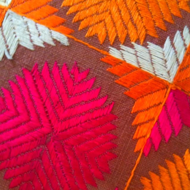 Phulkari close up...had a kimono made of this pattern