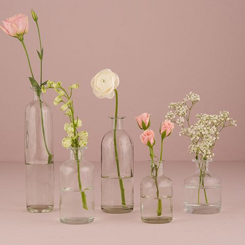 Assorted Glass Bottle Collection | DIY Wedding Centerpieces                                                                                                                                                                                 More