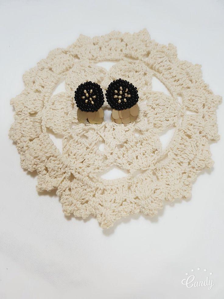spangle beads earring