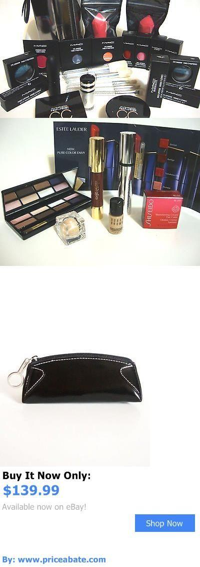 Beauty Makeup: Mac Cosmetics Eyeshadow Lipstick Brushes Bag Lot 32 Pcs Shiseido Estee Lauder BUY IT NOW ONLY: $139.99 #priceabateBeautyMakeup OR #priceabate