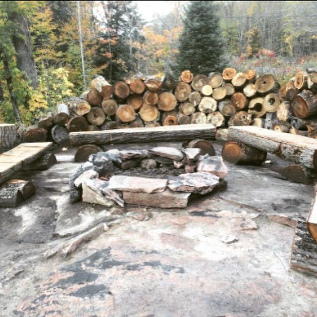 Fire pit at the cottage #hilltophideaway #cottage #kennisislake #cottagelife #firepit