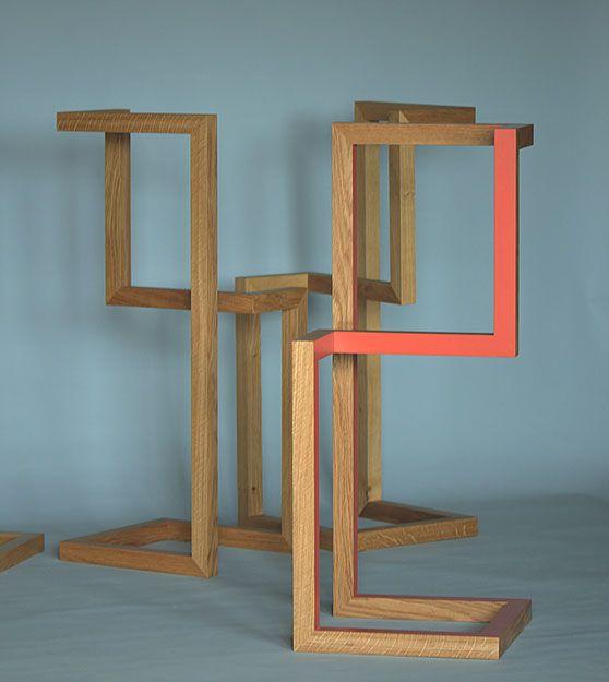 valet - oak - orange - paint - furniture