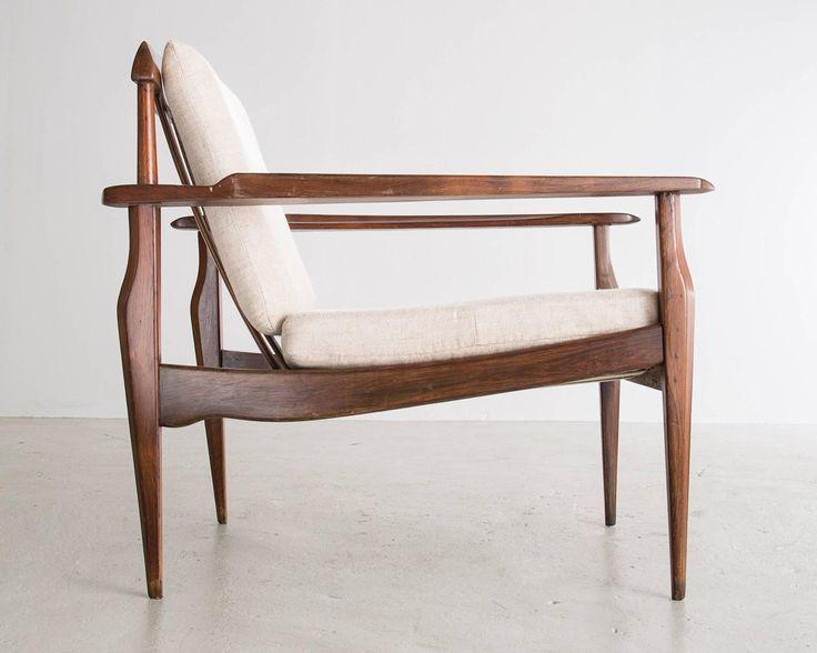 Lounge Chair in jacaranda by Joaquim Tenreiro, Brazil 1958. image 4