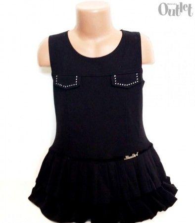 1 darab F&D Lányka ujjatlan ruha. 116-os méret. 65 % pamut, 30 % polleszter, 5 % elasztan