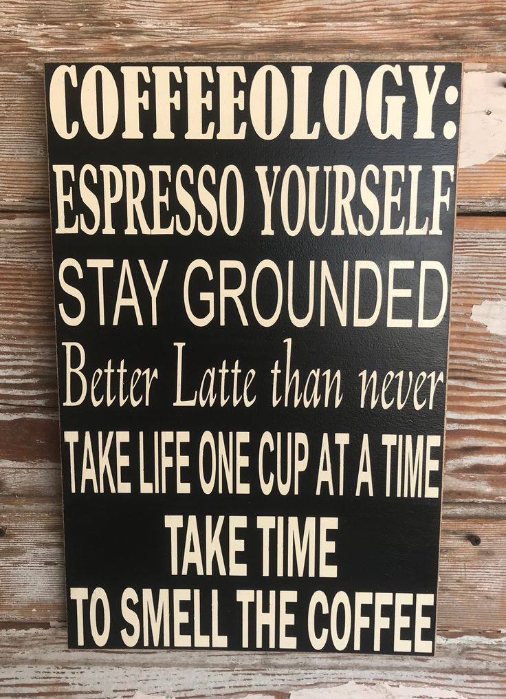 Coffeeology. Subway Style Wood Sign | Funny wood signs ...