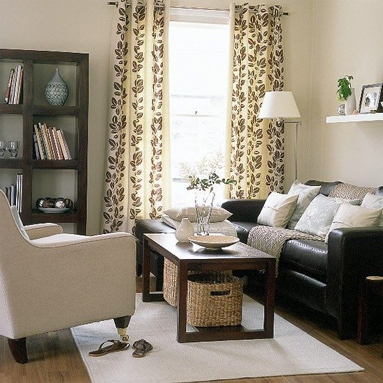 Living Room Decor Ideas With Brown Furniture: Dark Brown Couch Living Room Decor