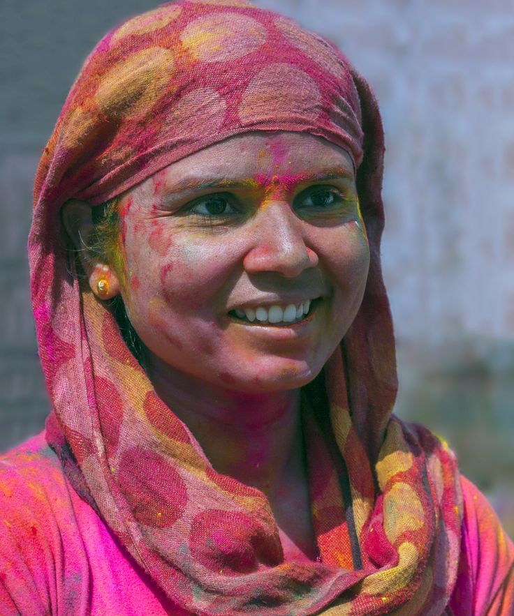 Beauty #portrait #woman #holi #photography #streetportrait