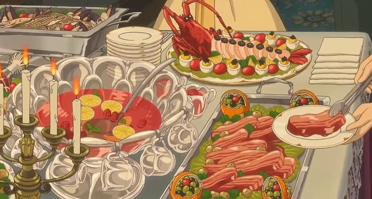 It's party time! - When Marnie was There  #AnimeFood  https://www.facebook.com/DeliciousAnimeFood/