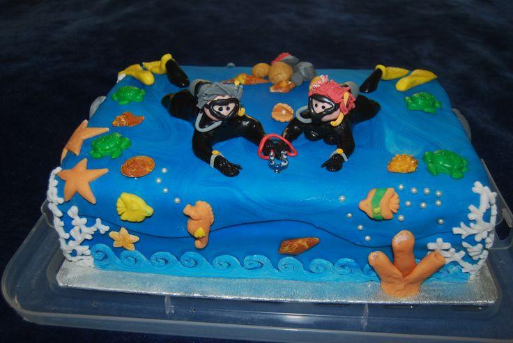 Scuba Diving Wedding Cake