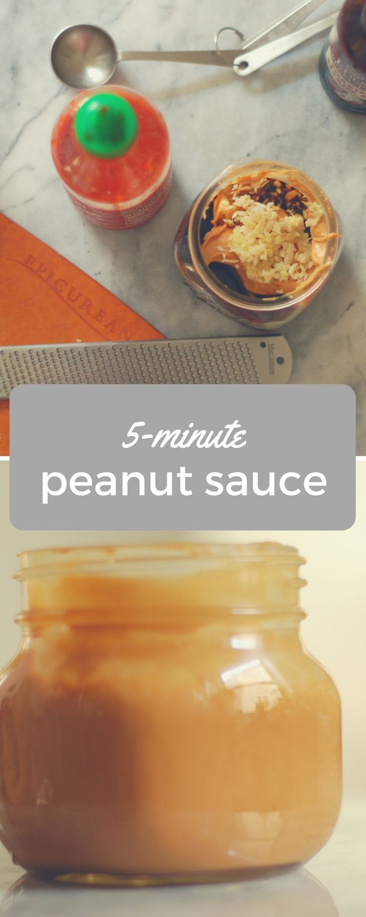 My Go-To Peanut Sauce. An easy recipes for a delicious vegetarian and gluten free sauce, perfect for peanut noodles, satay, dipping vegetables. From Blossom to Stem | Because Delicious | www.blossomtostem.net