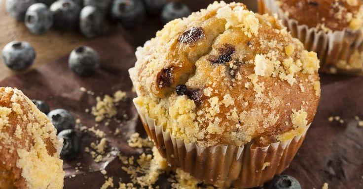 Il est différent du simple muffin aux bleuets, avec sa garniture croustillante...MIAM