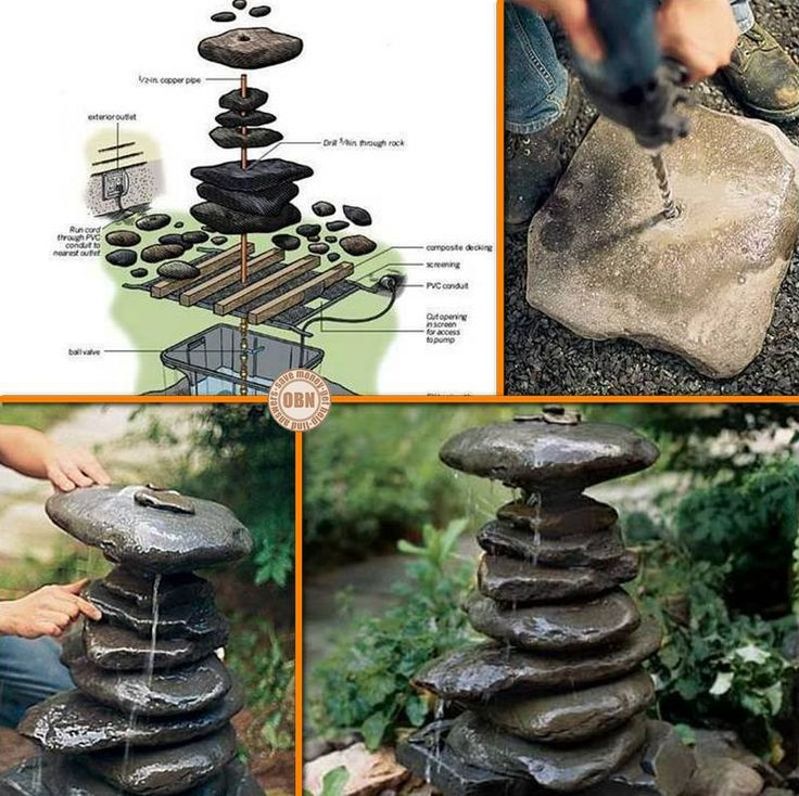39 best diy ponds water features images on pinterest for Homemade pond fountain ideas