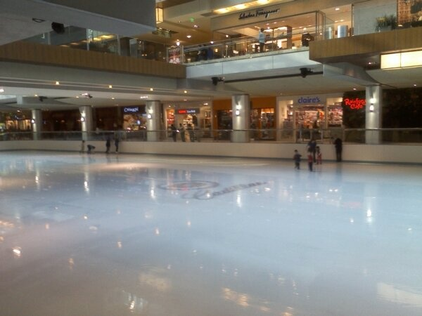 I love the Houston's Galleria's Mall.  It has an indoor Ice skating rink.
