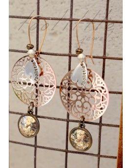 Σκουλαρίκια Patina Swarovski Stones & Circles