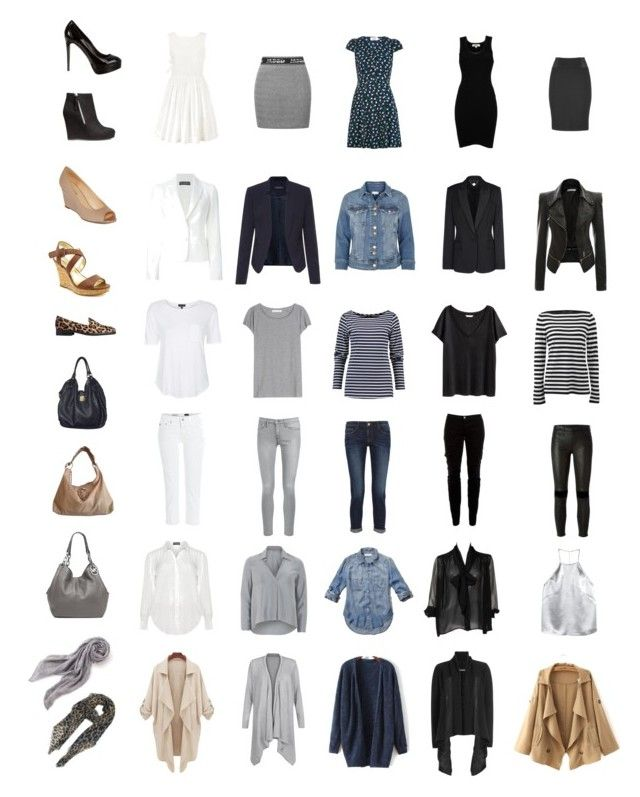 """The Ultimate Parisian Minimalist Capsule Wardrobe"" by elle-verlaque on Polyvore featuring Jean-Paul Gaultier, Louche, Marc by Marc Jacobs, Frame Denim, RtA, AG Adriano Goldschmied, Joie, STELLA McCARTNEY, River Island and Dolce&Gabbana"