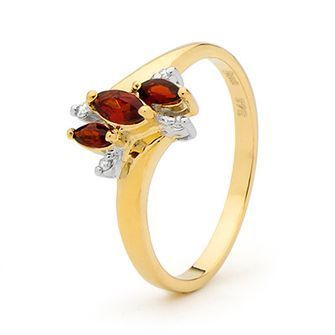 Buy our Australian made Gold Garnet and Diamond Dress Ring - BEE-24850-GT online. Explore our range of custom made chain jewellery, rings, pendants, earrings and charms.