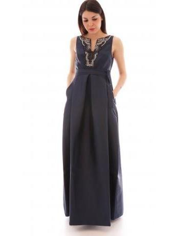 Lanacaprina - A-line prom dress in blue