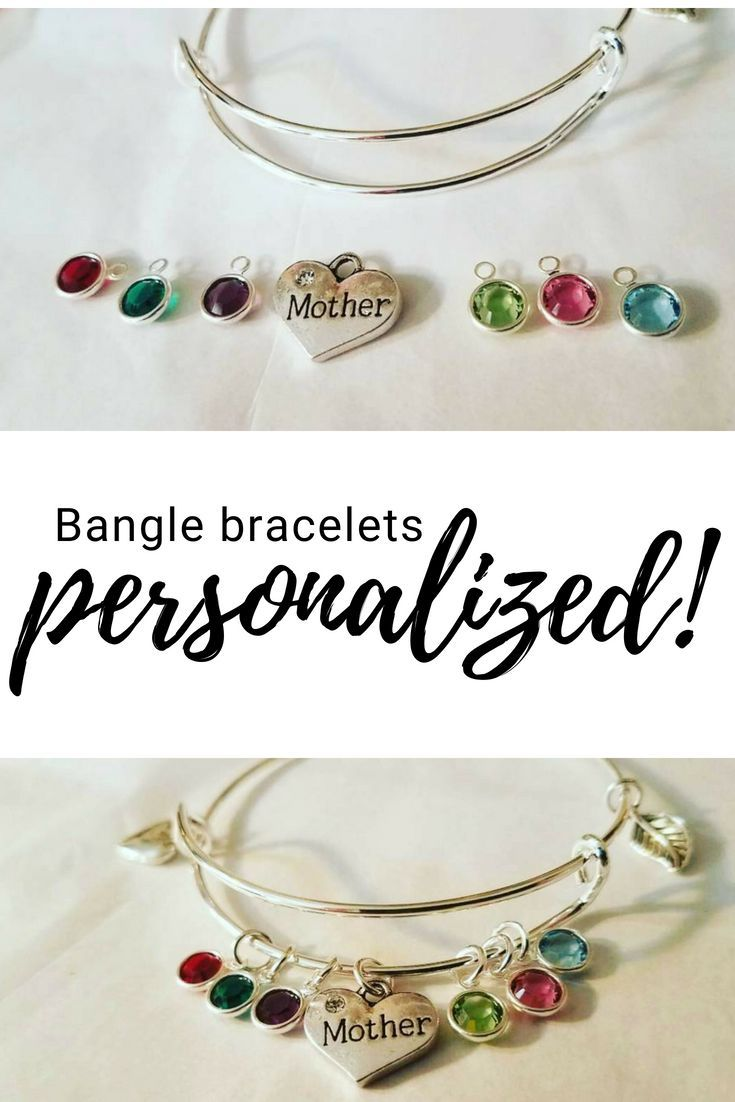 Handmade Personalized Bangle Bracelets For Mom S Best Friends And So Much More Each Is To Tell Your Unique Story