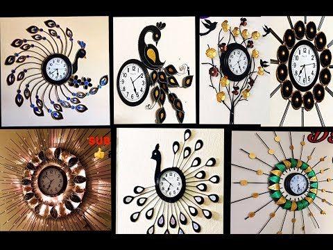 7 Wall Clock Waste Material Craft Ideas Watch Decoration Ideas Fashion Pixies Hand Craft Work Yout Wall Clock Craft Diy Clock Wall Wall Hanging Crafts