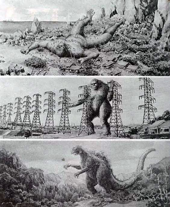 STORYBOARDS from KING KONG VS GODZILLA (1962)