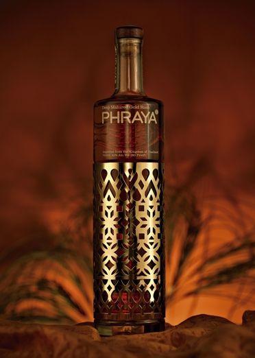 PHRAYA, deep mature gold rum #packaging AM
