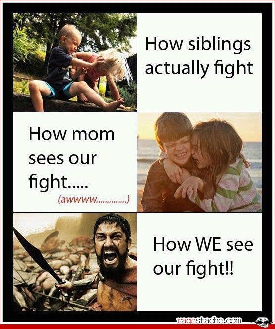 Hahaha yeahhhh it's sweet when mamas there but when she leave fists fly