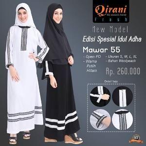 Baju Gamis Wanita Qirani Fresh Mawar 55