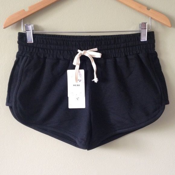 Cute Soft Drawstring Casual Lounge Gym Yoga Shorts ⭐️⭐️⭐️⭐️⭐️ NEW Black Cotton Drawstring Beach Gym Running Yoga Active Workout Fitness Casual Lounge Short Shorts. JUNIORS SMALL (fits like women's XS). Great for all occasions this spring and summer! Only 1 Large available! You may purchase this listing! PRICE FIRM! BUNDLE & SAVE 20%!!   Shorts