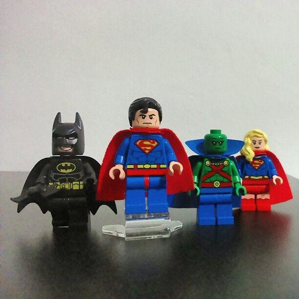 Justice League, assemble! #lego #batman #superman #martianmanhunter #supergirl #justiceleague