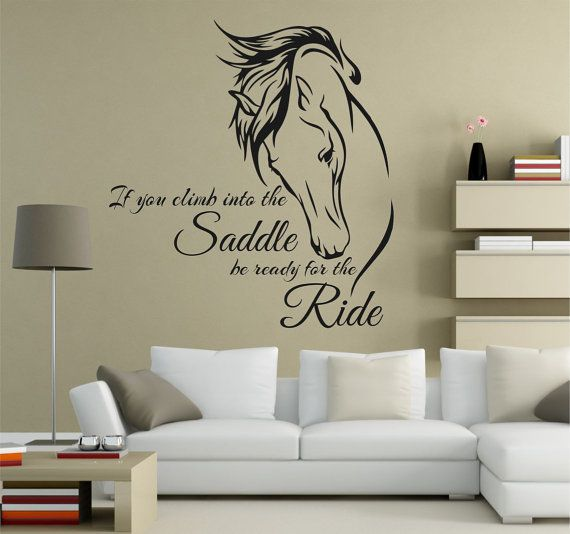 Horse-Horse Art- Name Decal - Name with Horse Decal - Vinyl Wall Decal for Baby Nursery-Teen Bedroom Girl Teen-WD0134  Decal Size - Select a size