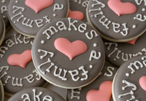Love Makes a Family Cookies by SweetSugarBelle, via Flickr